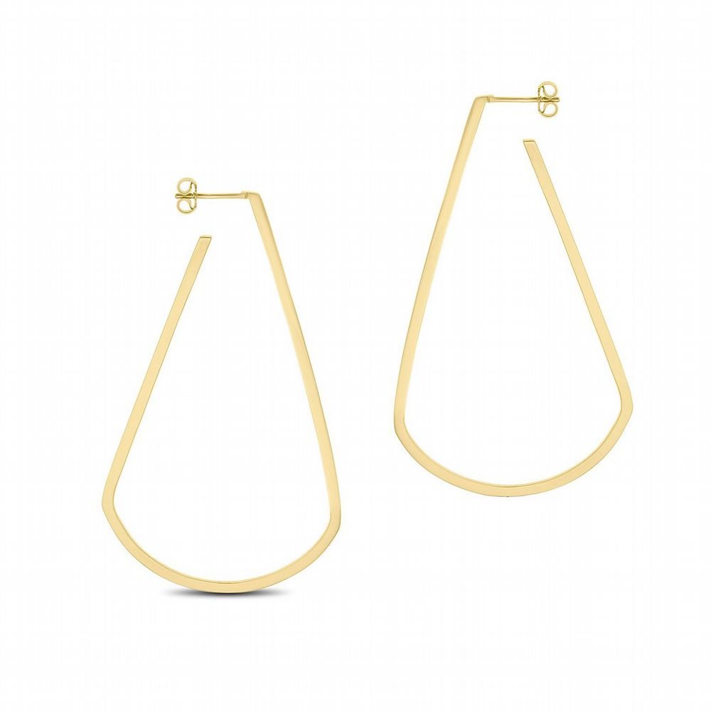 AMAI Jewellery - Tear Drop Hoop Earrings - Gold